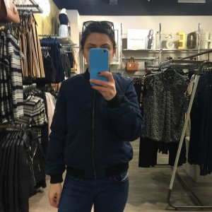 Miss Selfridge Petite Navy Bomber