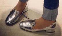 Zara Laminated Flats Title
