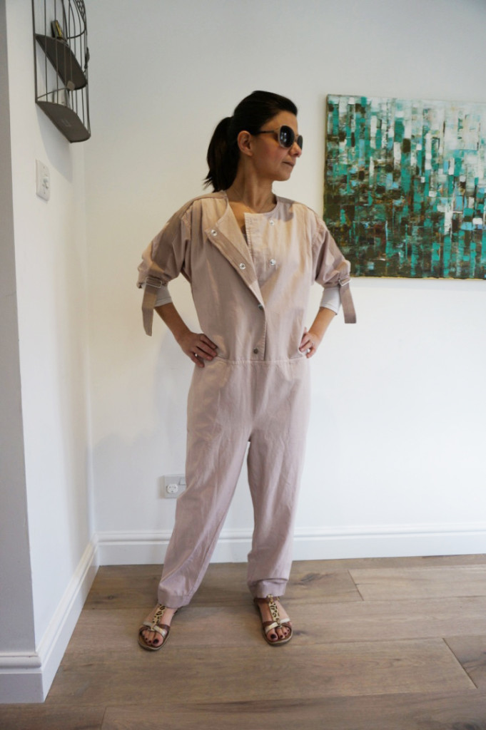 asos white herringbone jumpsuit full2