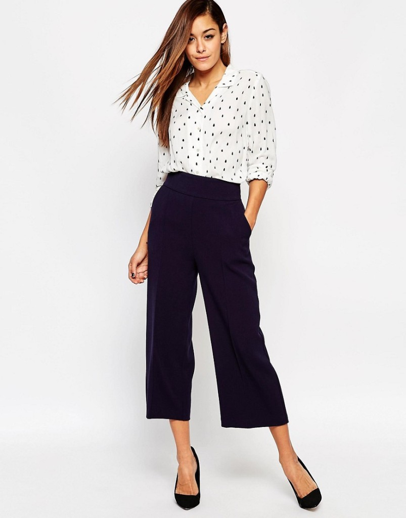 asos clean tailored culottes