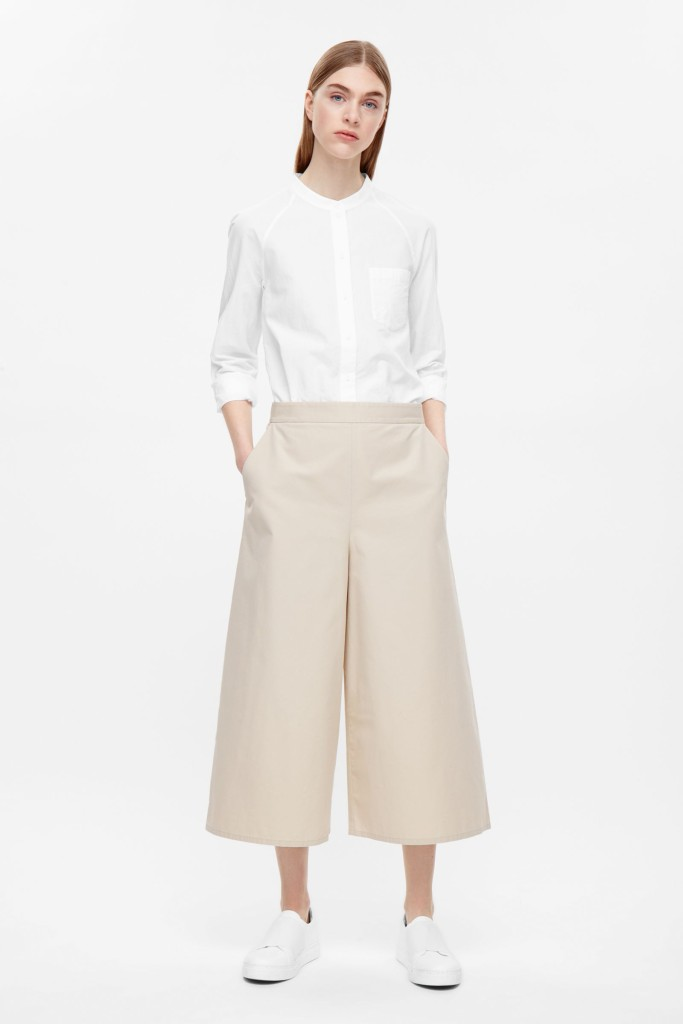 cos wide leg culotte