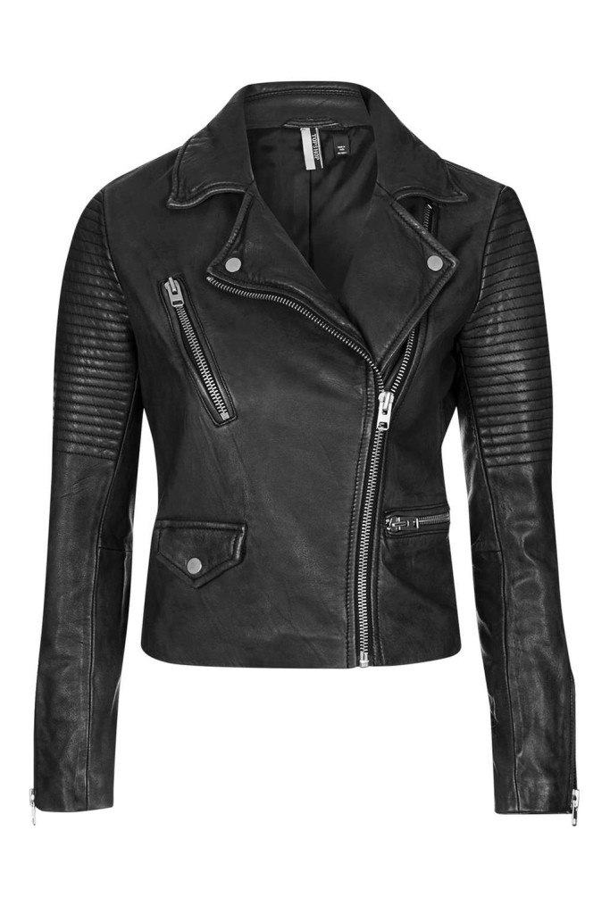 TOPSHOP PETITE Leather Biker Jacket
