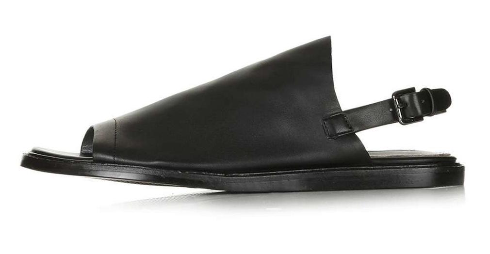 TOPSHOP prey black sandal