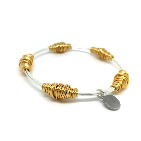 bas Junie Bangle Silver And Gold