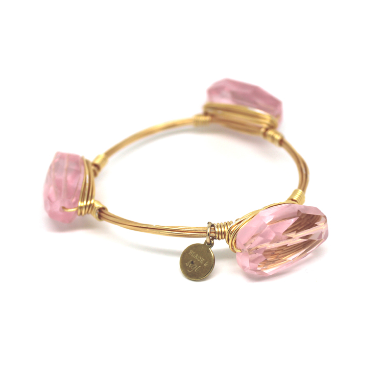 bas rose quartz bangle