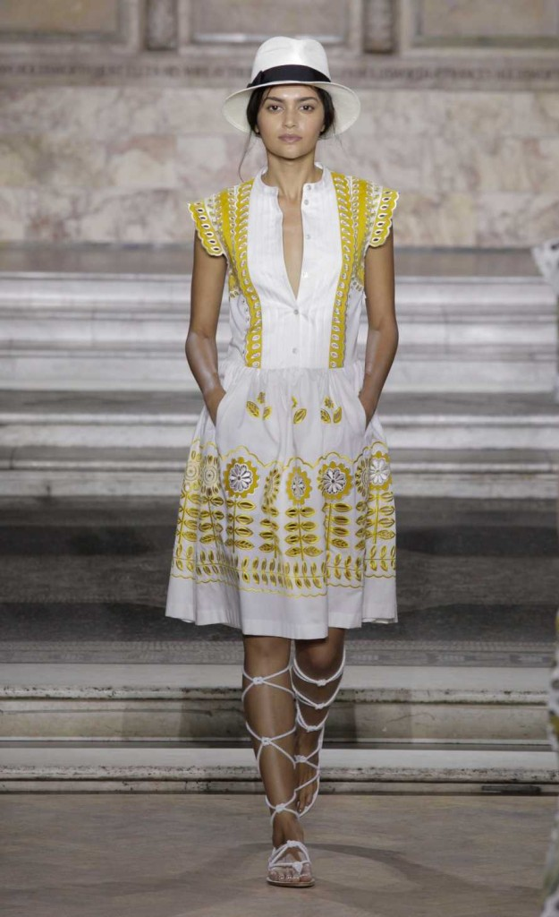 temperley SS16 folksy dress