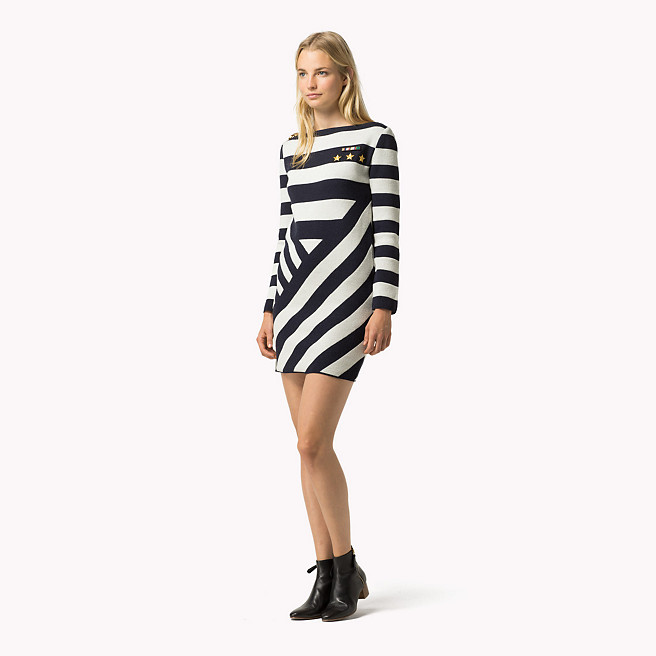 hilfiger-cross-stripe-mini-dress