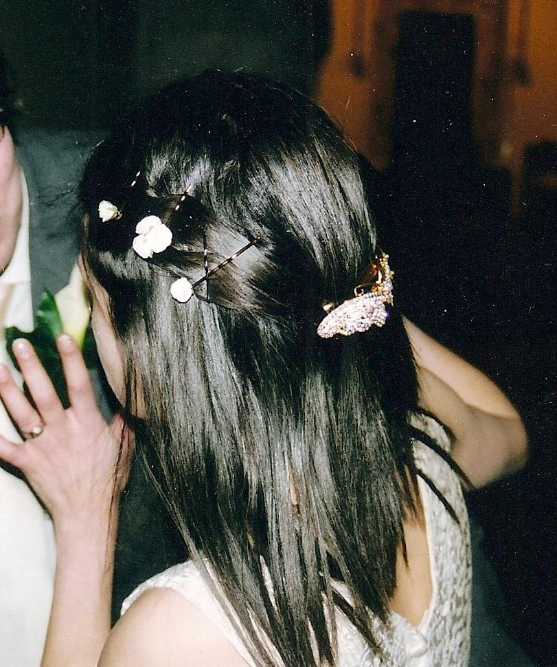 How like smooth was my wedding hair?
