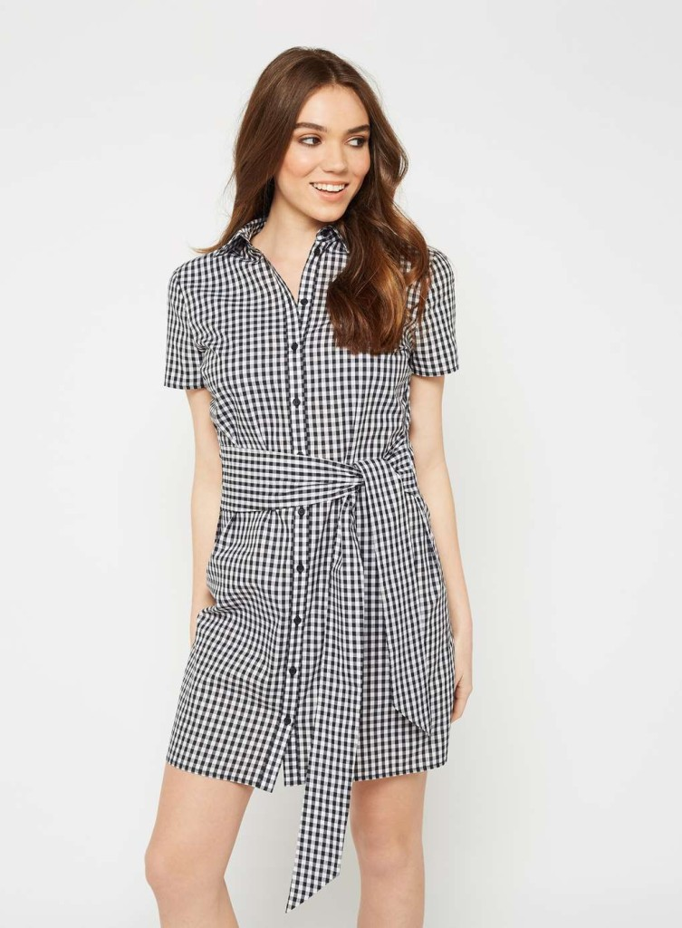 miss-selfridge-gingham-tie-shirt-dress