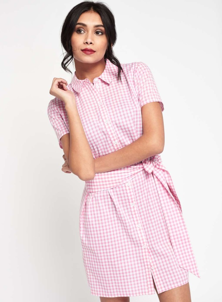 miss-selfridge-gingham-tie-shirt-dress-pink