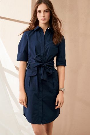 next-cotton-poplin-tie-waist-dress