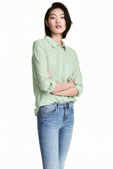 hm-green-striped-shirt
