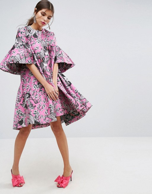asos salon dress