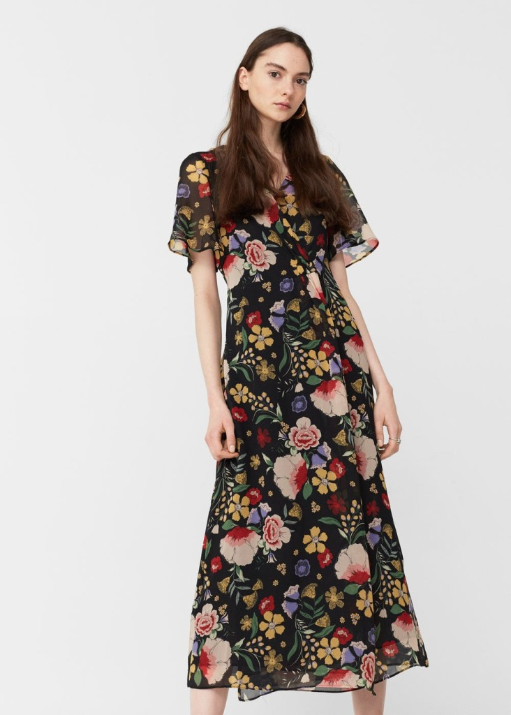 mango-floral-wrap-dress-model