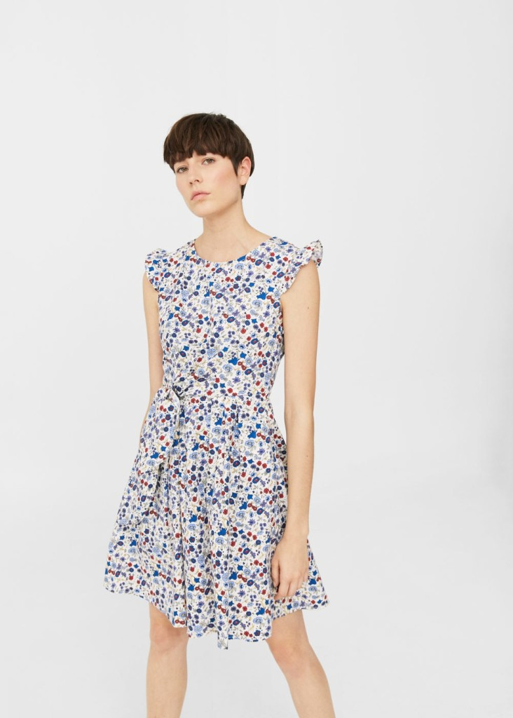 mango-printed-bow-dress
