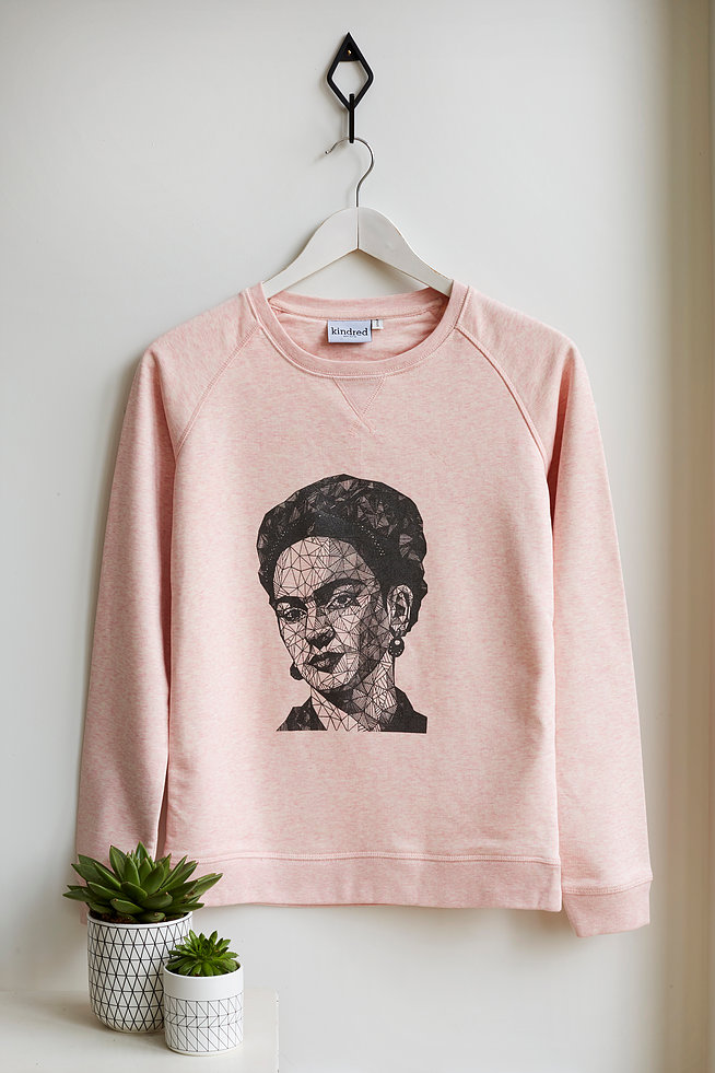Beautiful Frida K on a sweatshirt!