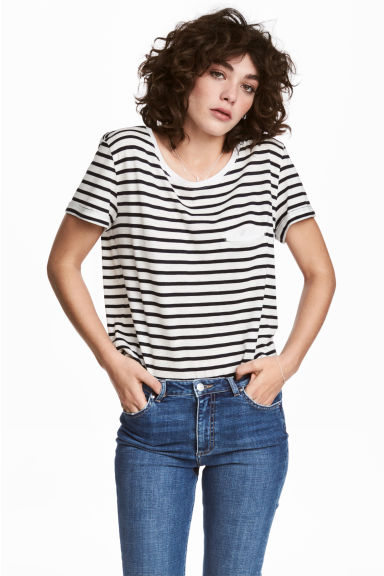 hm-striped-jersey-top
