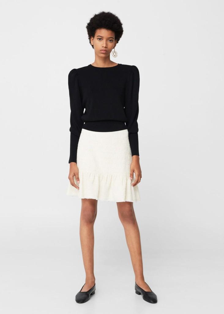 mango-fluted-hem-skirt