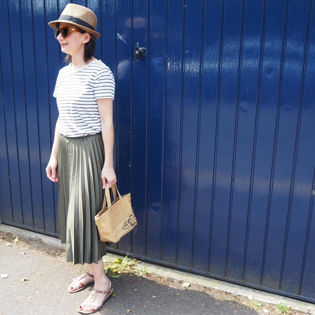the perfect pleated midi