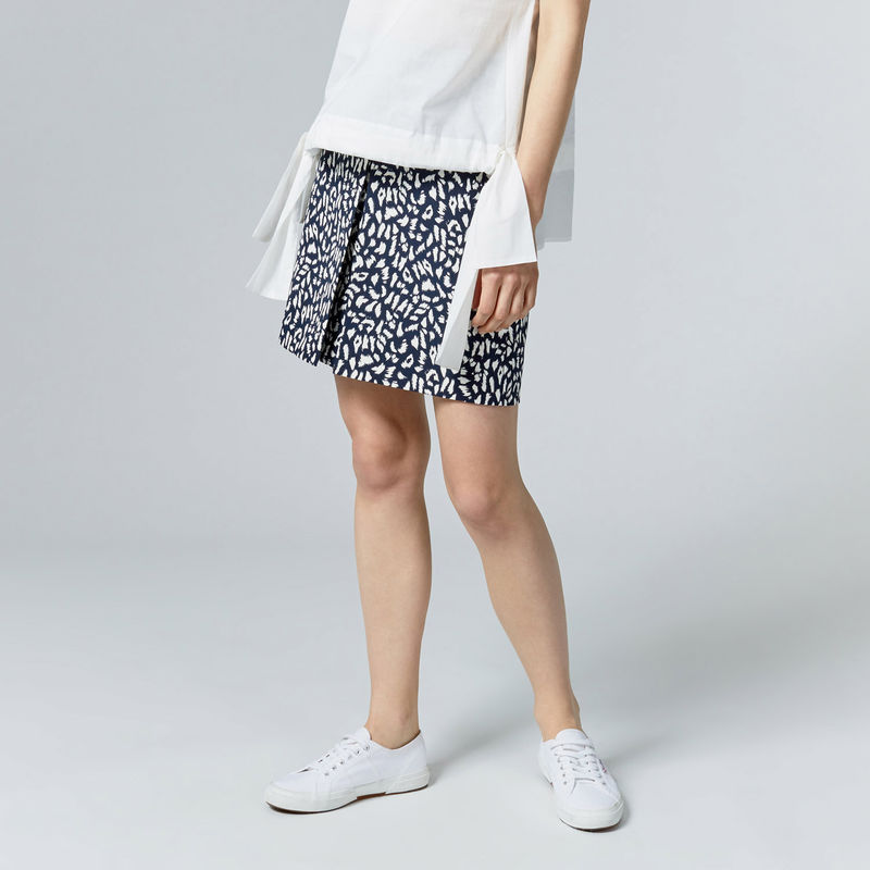 warehouse-animal-print-skirt