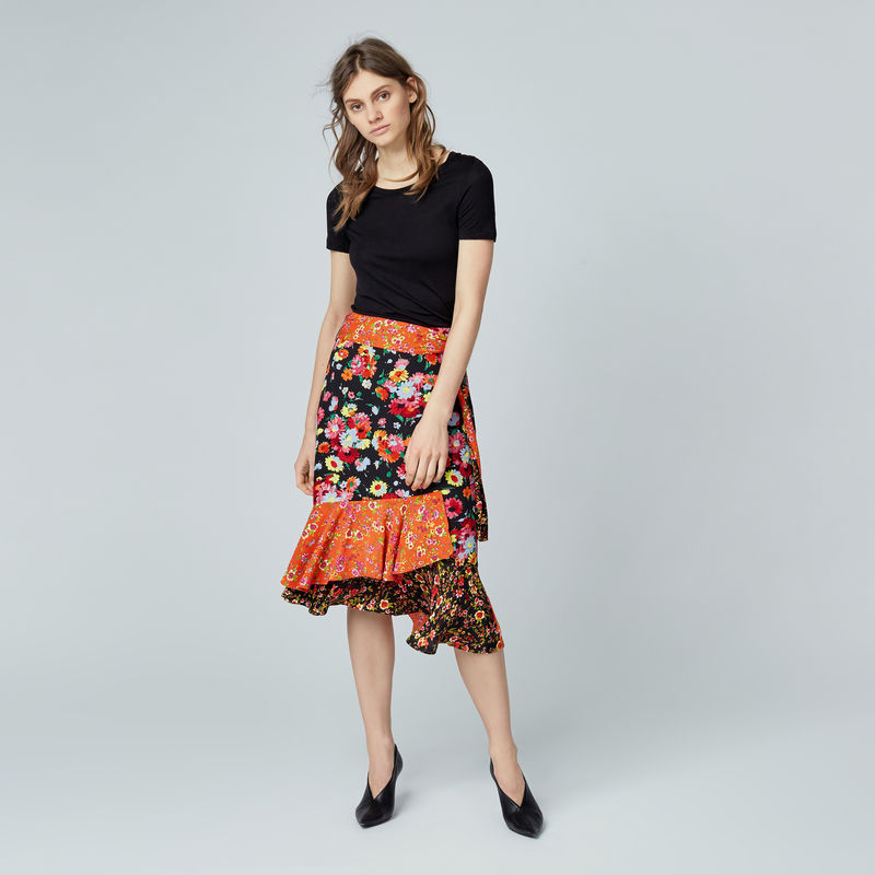 warehouse-sidney-floral-skirt