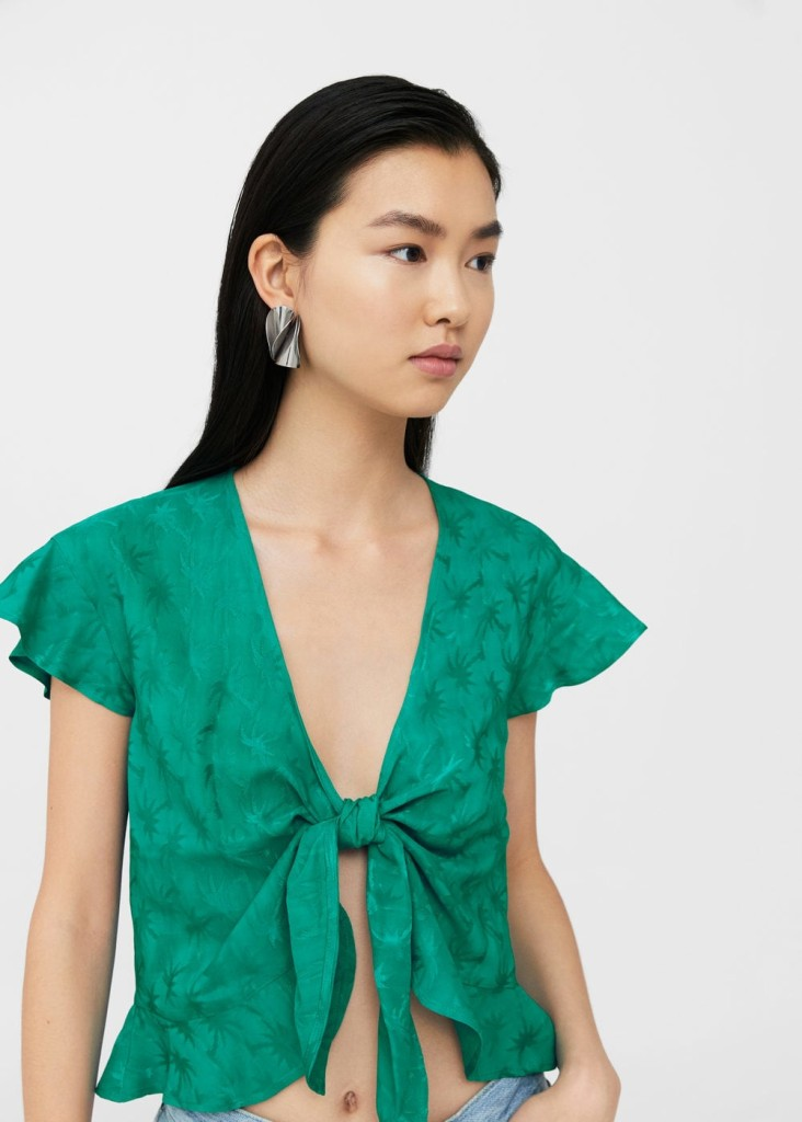 mango-bow-knot-blouse-model
