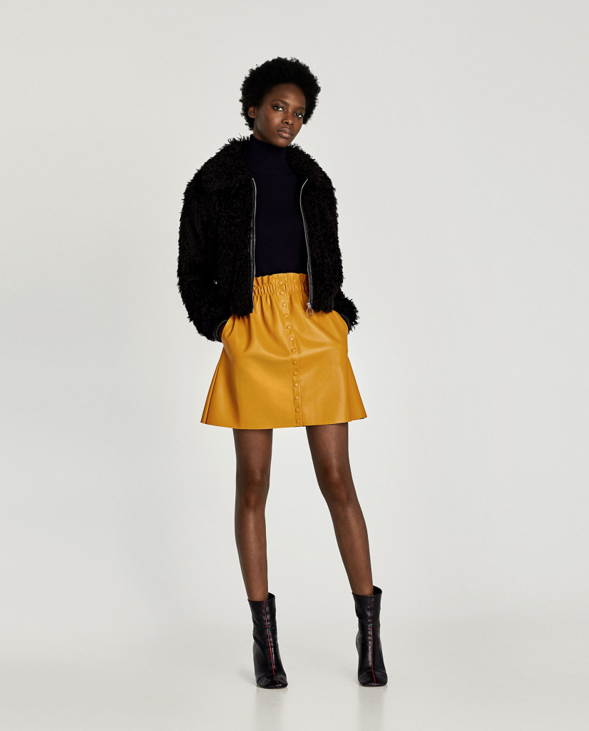 zara-faux-leather-mini-skirt