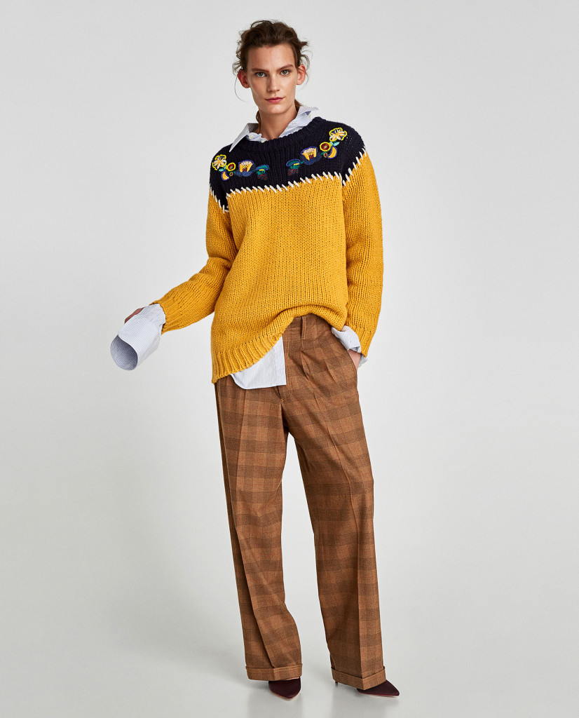 zara-embroidered-two-tone-sweater