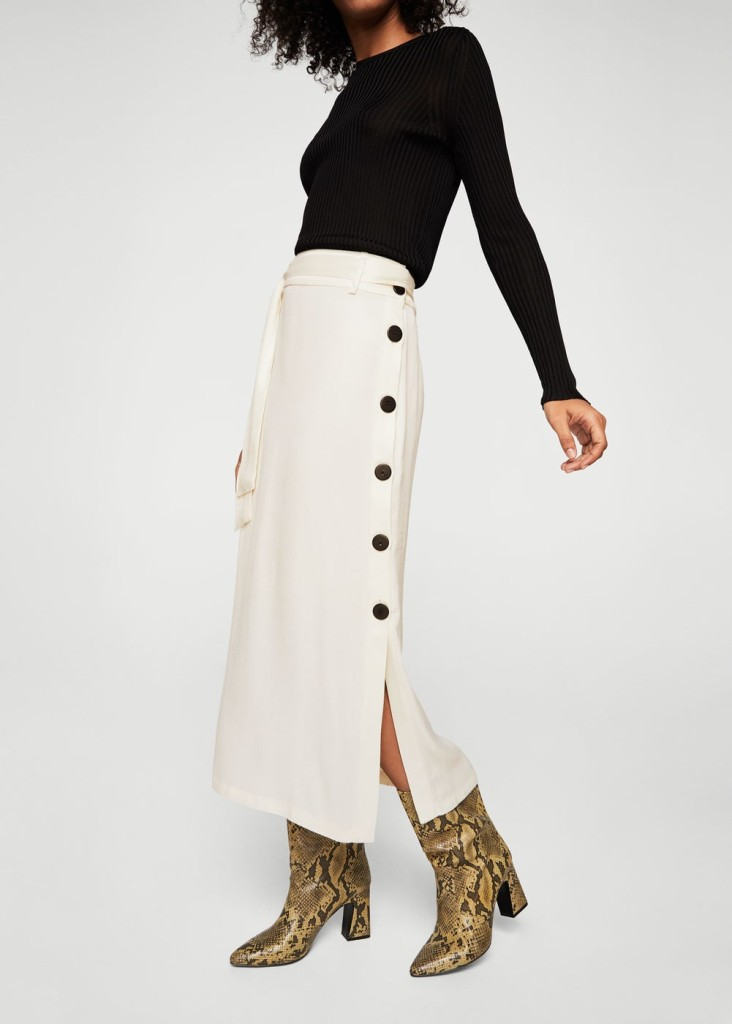 mango-contrast-button-skirt
