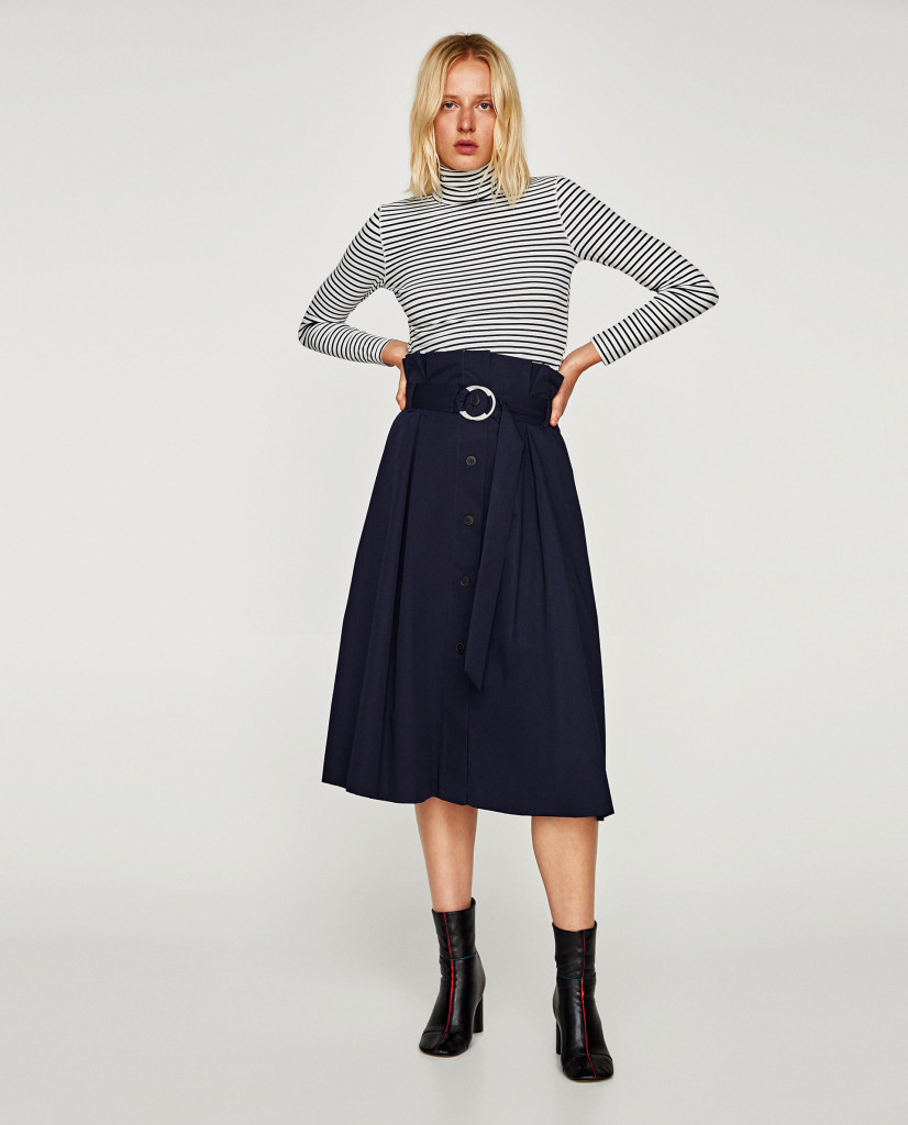 zara-buckled-midi-skirt
