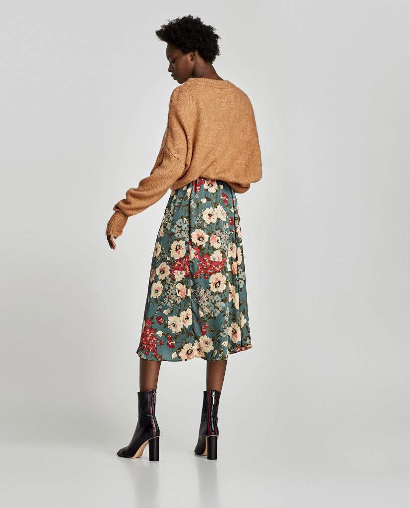 zara-floral-print-midi-skirt-back