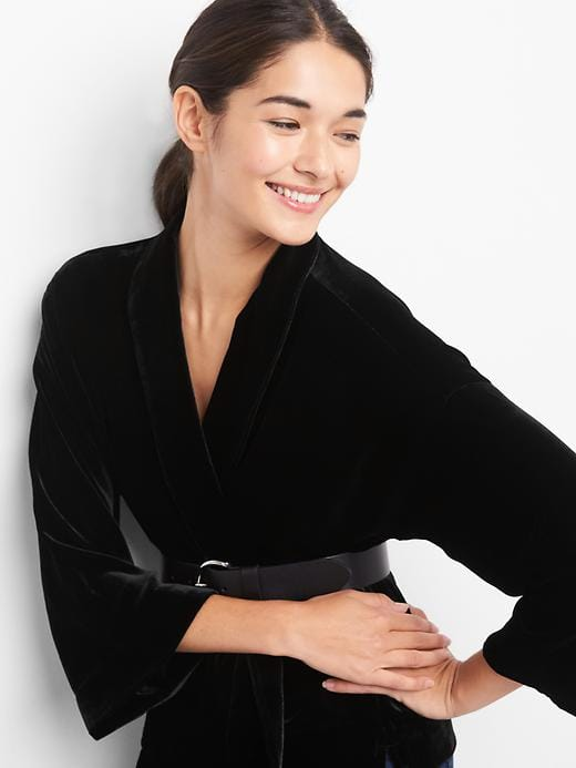gap-velvet-kimono-black