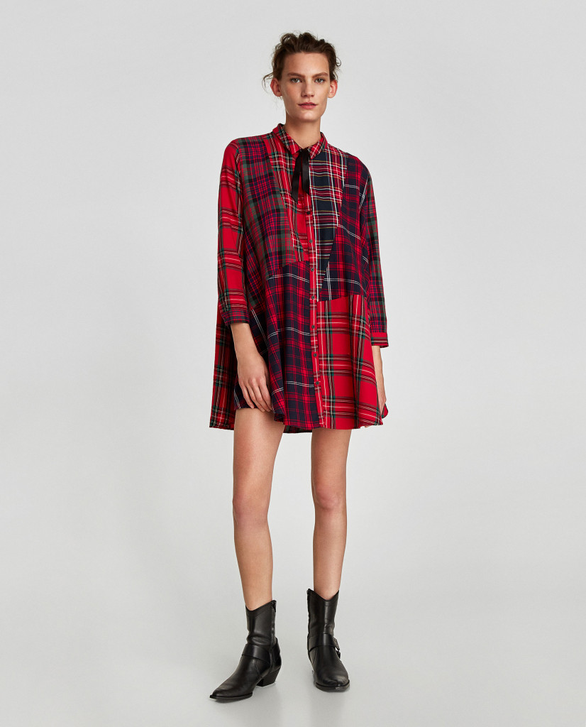 zara-check-mini-dress