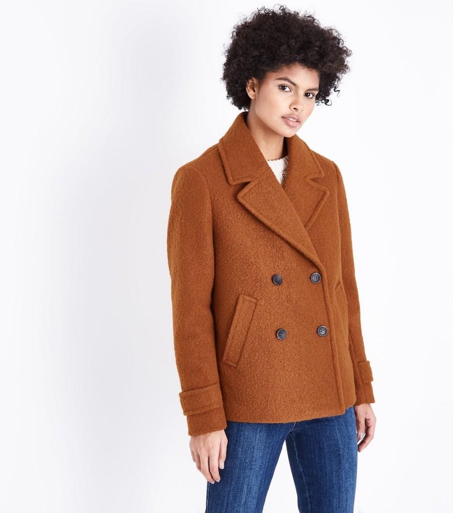 new-look-rust-textured-pea-coat