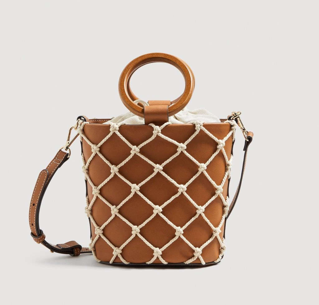 mango-Medium-Brown-Net-Tote-Bag