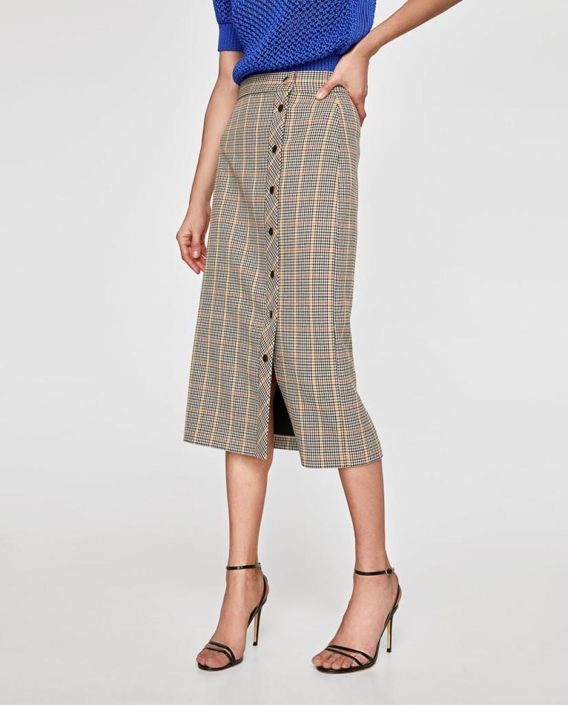 zara-checked-pencil-skirt