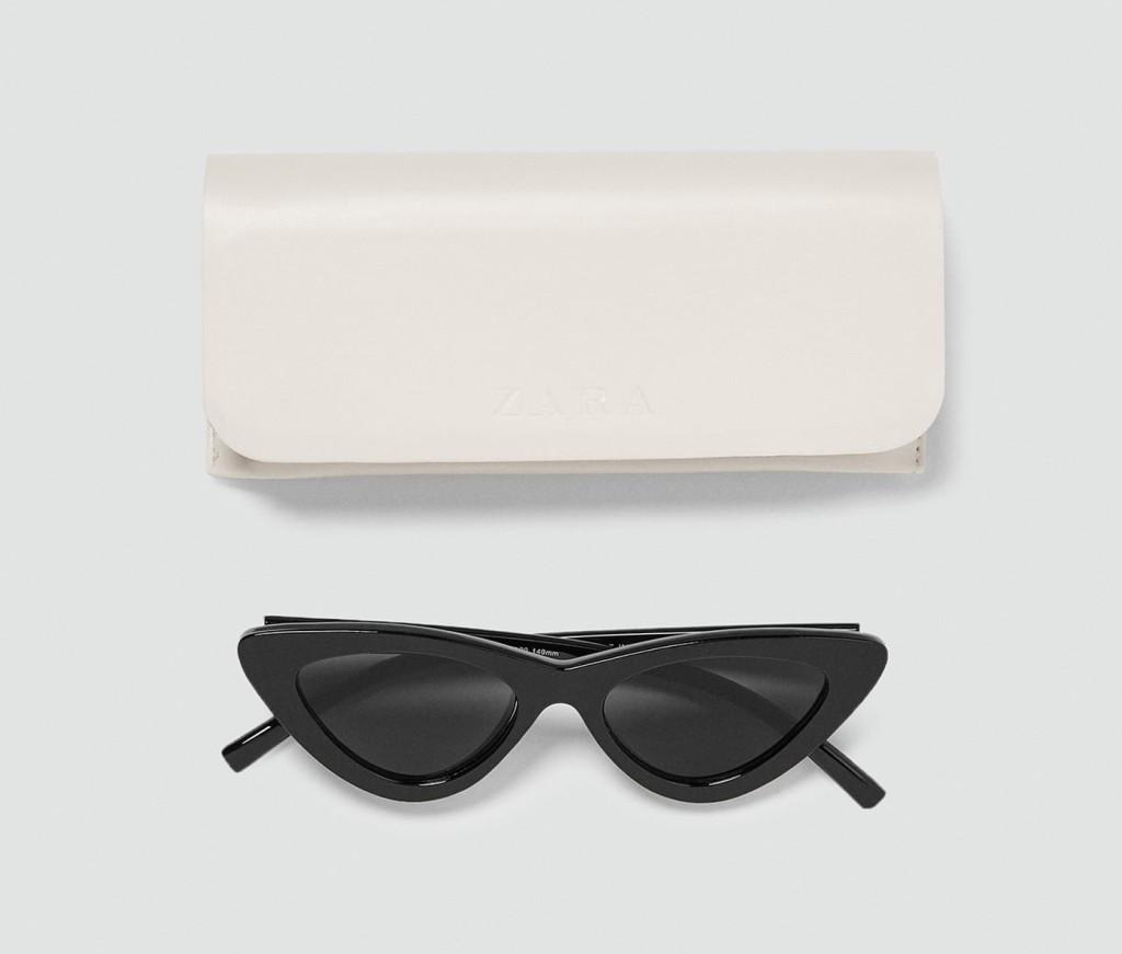 zara-slim-cateye-sunglasses-black