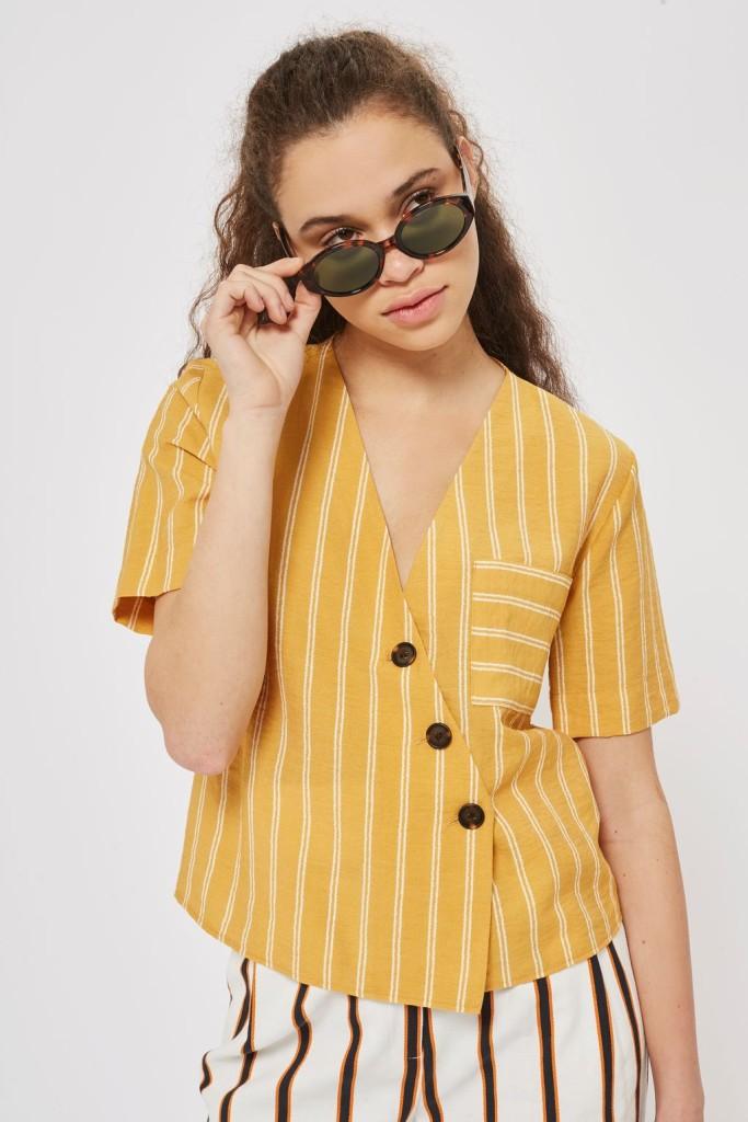 topshop-striped-linen-shirt