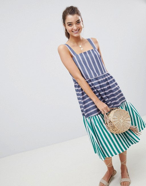 asos-design-stripe-midi-tiered-sundress