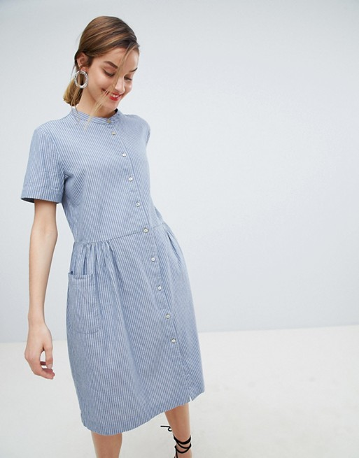 asos-selected-stripe-shirt-dress