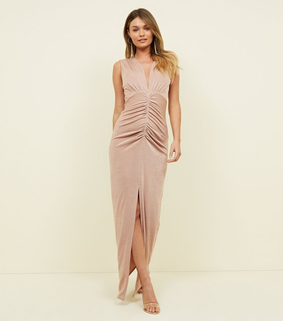 new-look-pale-pink-ruched-maxi-dress