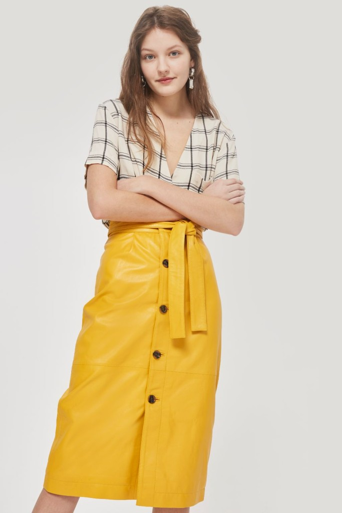 topshop-yellow-leather-skirt