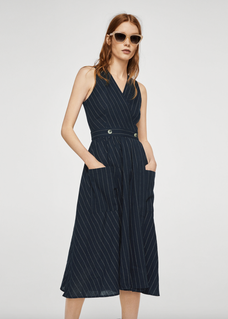 mango-pin-stripe-dress-navy