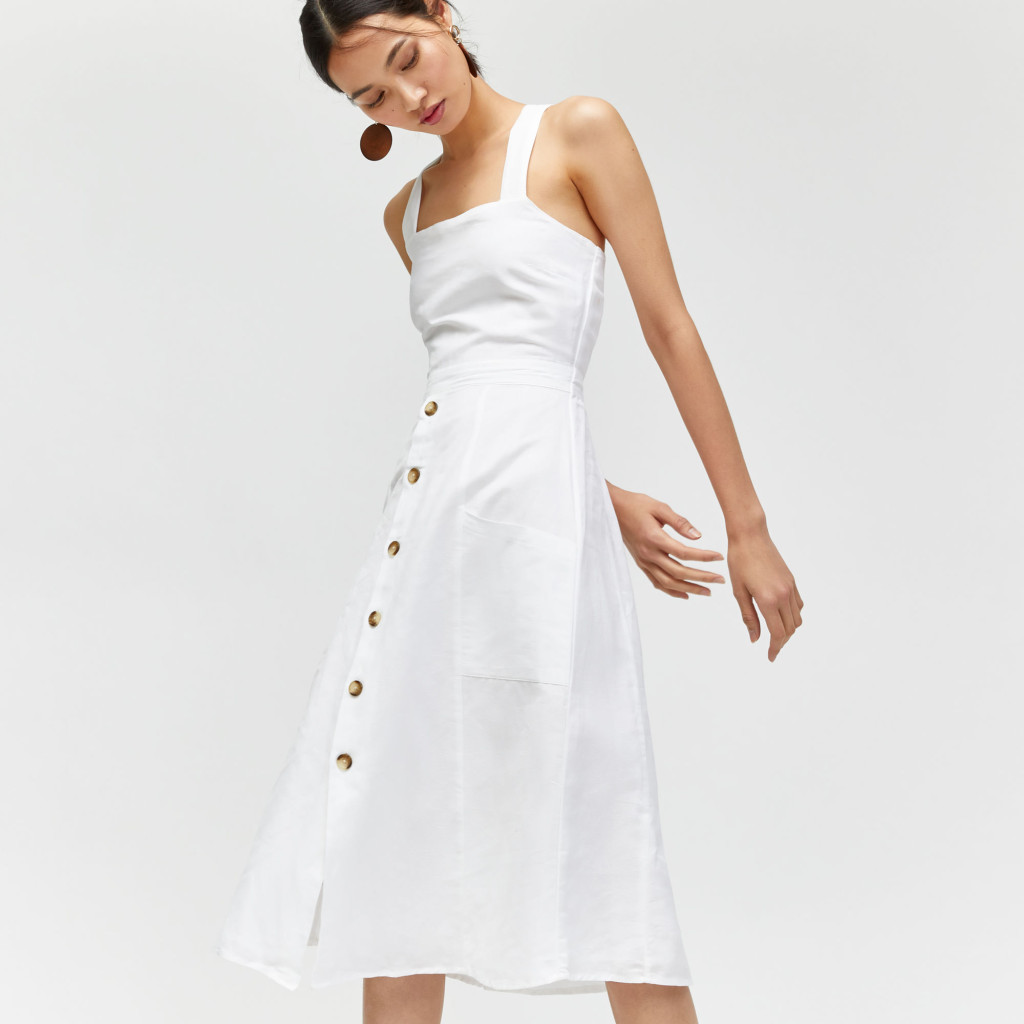 warehouse_linen-button-through-dress