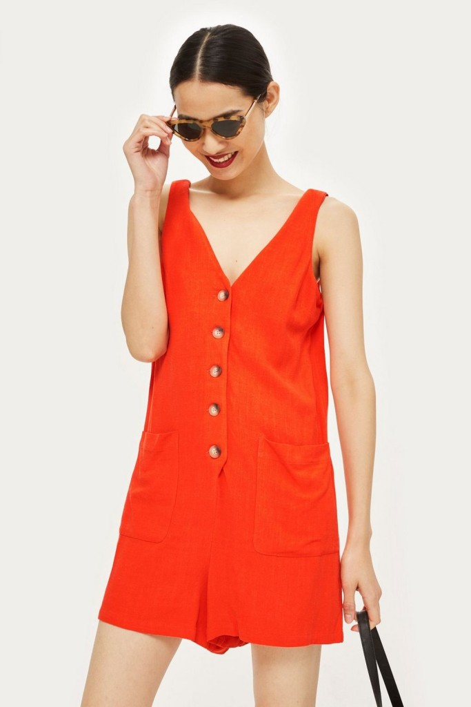 Topshop-red-playsuit