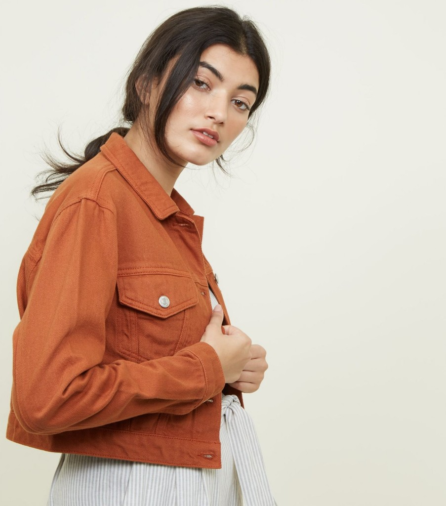 new-look-rust-cropped-denim-jacket