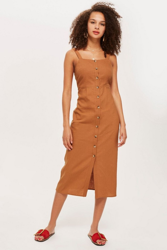 topshop-button-through-midi