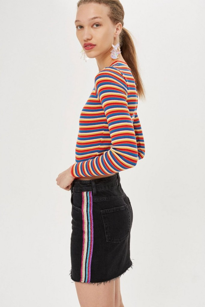 topshop-glitter-side-stripe-skirt