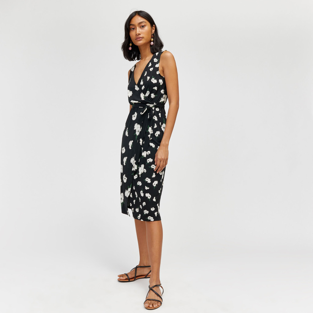 warehouse_orchid-print-wrap-dress-model