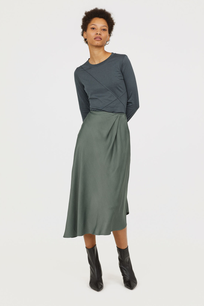 hm-assymetrical skirt